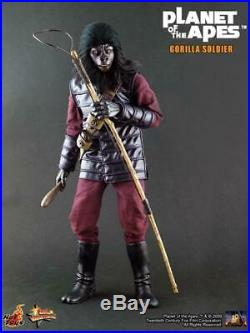 Hot Toys Planet Of The Apes Gorilla Soldier 12 1/6 Figure Mms88 Rare Displayed