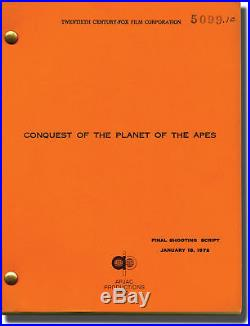 J Lee Thompson / Conquest of the Planet of the Apes Original screenplay #139817
