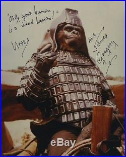James Gregory Signed Autographed The Planet Of The Apes Color Photo Gen. Ursus