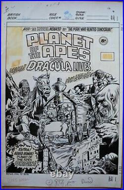 Jeff Acklin Planet of the Apes #93 Original Cover Art (1976)
