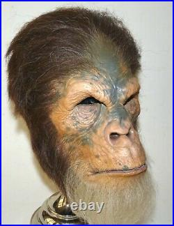 Jordu Schell PLANET OF THE APES Chimp Monster Mask Gallery Grade Punched Hair