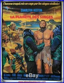 LA PLANETE DES SINGES Planet of the apes 160x120 Affiche Cinéma ENTOILEE POSTER