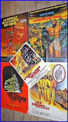 LA PLANETE DES SINGES planet of the apes les episodes 1.2.3.4.5 affiche cinema