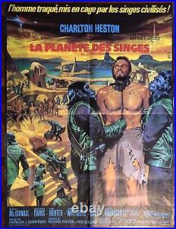 La Planète Des Singes / Planet Of The Ape / 60x80 / Original / Affiche / 1968