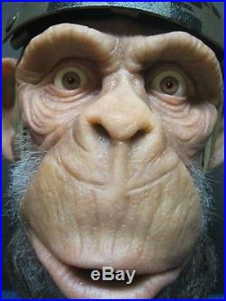Lifesize 1/1 CUSTOM RARE Ape Silicone Prop Bust Planet of the Apes Glass Eyes