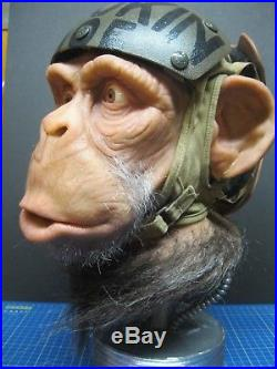 Lifesize 1/1 Space Ape Astronaut Silicone Bust'Planet of the Apes' 1 of a Kind