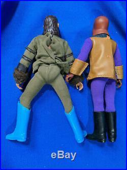 Lot 6 Mego 1970s Planet of the Apes Action Figures Astronaut Ursus Urko Soldier