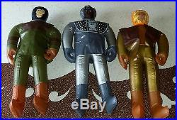 Lot of 3 1970s Planet of the Apes Rare Ideal Inflatable Figures Cornelius Zaius