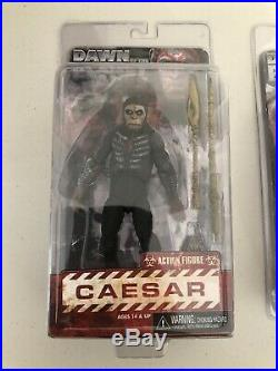 Lot of 3 Dawn of the Planet of the Apes Figures- Caeser, Koba, Maurice NECA New