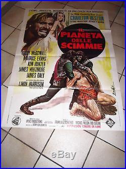 MANIFESTO, Planet of the Apes PIANETA DELLE SCIMMIE, F. Schaffner C. Heston, 1968