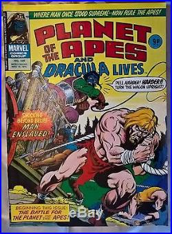 Marvel Original Comics 1975/6- Planet Of The Apes/dracula Lives -81 Mags In Tota