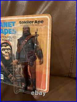 MEGO PALITOY PLANET OF THE APES SOLDIER APE C. 1967 MINT ON CARD -Unpunched