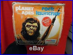 MEGO VINTAGE 1970's JOEZETA PALITOY PLANET OF THE APES ROCK LAUNCHER BOXED