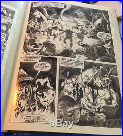 MIKE PLOOG Original PLANET OF THE APES #16 Splashy Panel Page COVER IMAGE