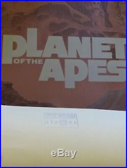MONDO Planet of the Apes Laurent Durieux Print. RARE PRODUCTION SAMPLE