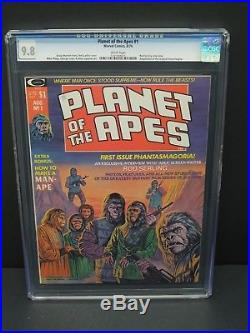 Marvel Comics Planet Of The Apes #1 1974 Cgc 9.8 Magazine White Pages