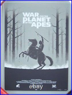 Matt Ferguson WAR FOR THE PLANET OF THE APES Screen Print Poster /40