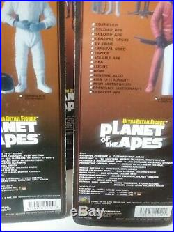 Medicom Planet Of The Apes Ultra Detail Figures Set Of 19 + 3 Variants. Total 22