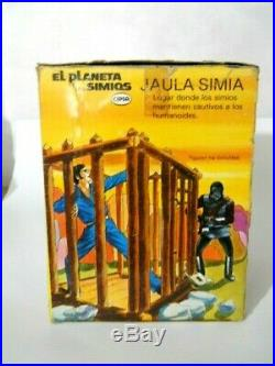 Mego Cipsa Planet Of The Apes Jail In Original Box Made In Mexico Rare Htf