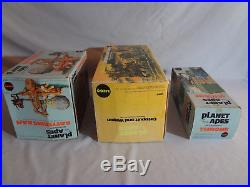 Mego POTA Planet of the Apes Catapult & Wagon, Battering Ram, Throne Boxed lot