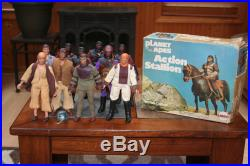 Mego POTA vintage Planet of the Apes lot figures 10 Action Stallion with box