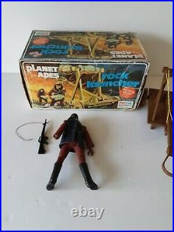Mego/ Palitoy Planet Of The Apes Rock Launcher And Figure 1971/75 Vintage