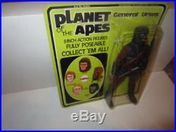 Mego Planet Of The Apes General Ursus Moc Unpunched Green Card