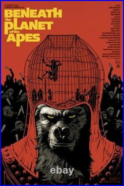 Mondo BENEATH THE PLANET OF THE APES (VARIANT) Poster, Paolo Rivera 125 Made