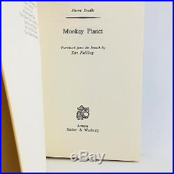 Monkey Planet 1st Edition Pierre Boulle Planet Of The Apes Hardcover/DJ