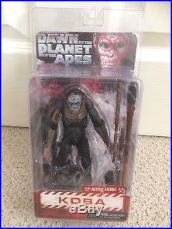 NECA 7 inch S1 Dawn of the Planet of the Apes Caesar Koba Maurice set