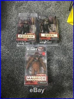 NECA Dawn Of The Planet Of The Apes Figures X3 Maurice Caesar + Koba New Sealed