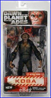 NECA Dawn of the Planet of the Apes Series 2 Koba Action Figure Machine Gun