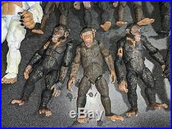 NECA Planet of the Apes, Dawn, Rise, LOT Caesar, Luca, Koba Figures