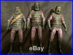 NECA Planet of the Apes Lawgiver resin statue and gorilla soldiers 7 figure lot
