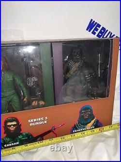 NECA Planet of the Apes Series 3 Bundle Conquest Gorilla Caesar General Aldo