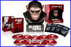 NEW PLANET OF THE APES Blu-ray Collection Warrior with Caesar head from Japan