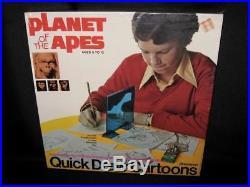 NEW SEALED PLANET OF THE APES QUICK DRAW CARTOONS 1973 Pressman VERY RARE