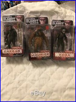 Neca Dawn Of Planet Of The Apes Ser 1- Caesar -maurice & Koba Action Figure Set