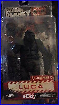Neca Reel Toys Dawn Of The Planet Of The Apes Luca Action Figure Rare