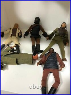 ORIGINAL 1974 Mego 8 Figure Planet of the Apes Soldier Lot Of 5