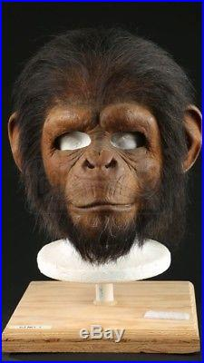ORIGINAL 2001 Planet of the Apes Chimp mask. SCI-FI Movie Film Propstore COA