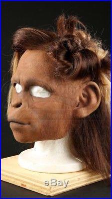 ORIGINAL 2001 Planet of the Apes Female chimp mask Movie Film Propstore COA