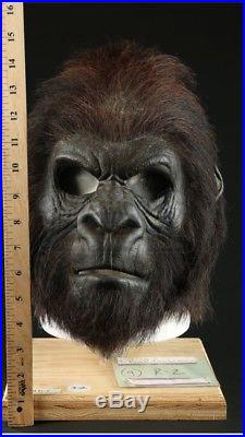 ORIGINAL 2001 Planet of the Apes Gorilla mask SCI-FI Movie Film Propstore COA