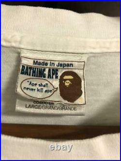 Oneita A Bathing Ape Uncle Sam Vintage T-Shirt Planet of the Apes 1990s L #4343