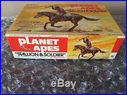 Original Addar Planet Of The Apes Stallion & Soldier Model Kit 1974