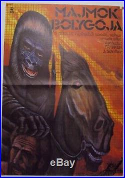 Original Drawn Hungarian Movie Poster, Planet of the Apes, Franklin J. Schaffner