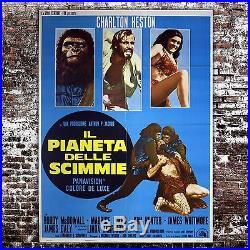 Original Movie Poster Planet of the Apes Il Pianeta Delle Scimmie 100x140 CM