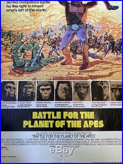Original Vintage 1970S Battle For The Planet Of The Apes Movie Poster