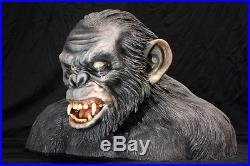 PAINTED planet of the apes life size bust koba PAINTED