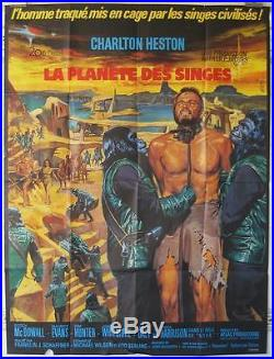 PLANET OF THE APES 1967 GREAT ORIGINAL FRENCH 47x63 VERY NICE